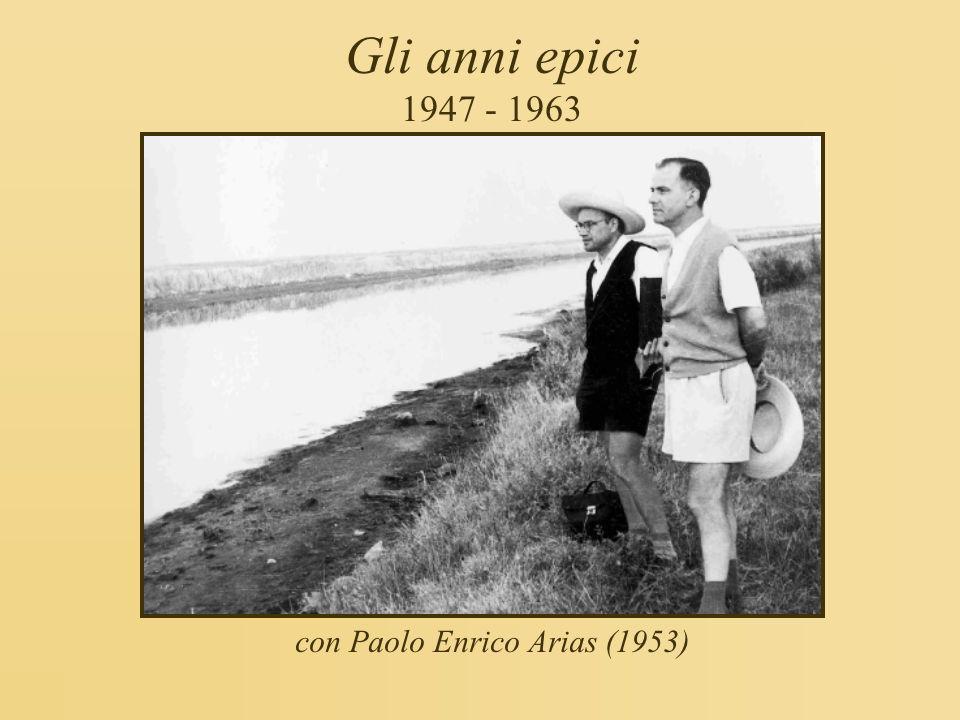 con Paolo Enrico Arias (1953)