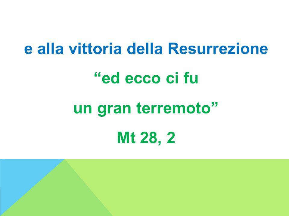 e alla vittoria della Resurrezione