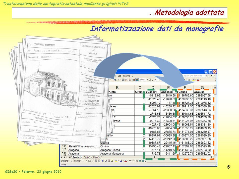 Informatizzazione dati da monografie