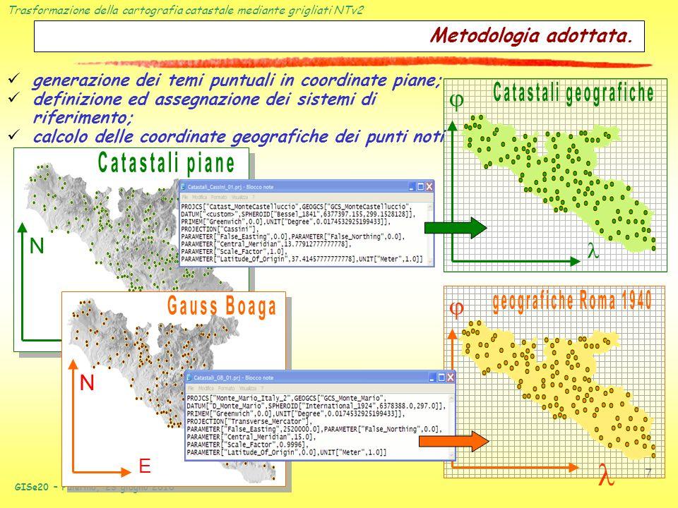 Catastali geografiche