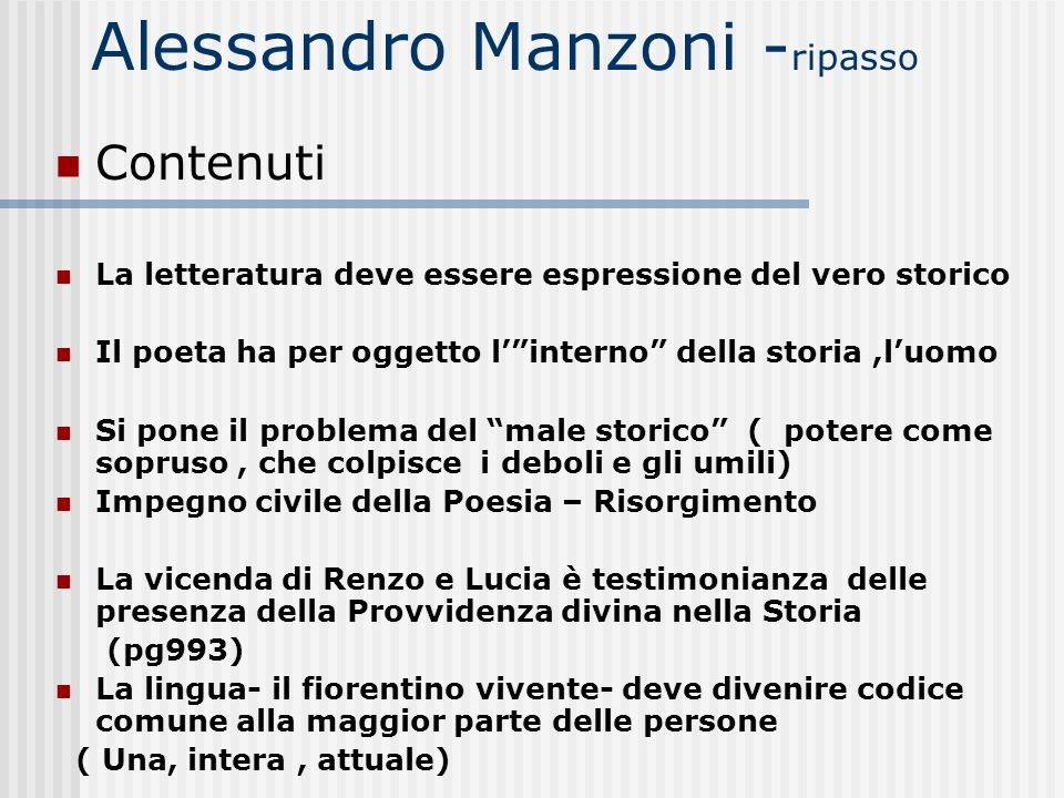 Alessandro Manzoni -ripasso
