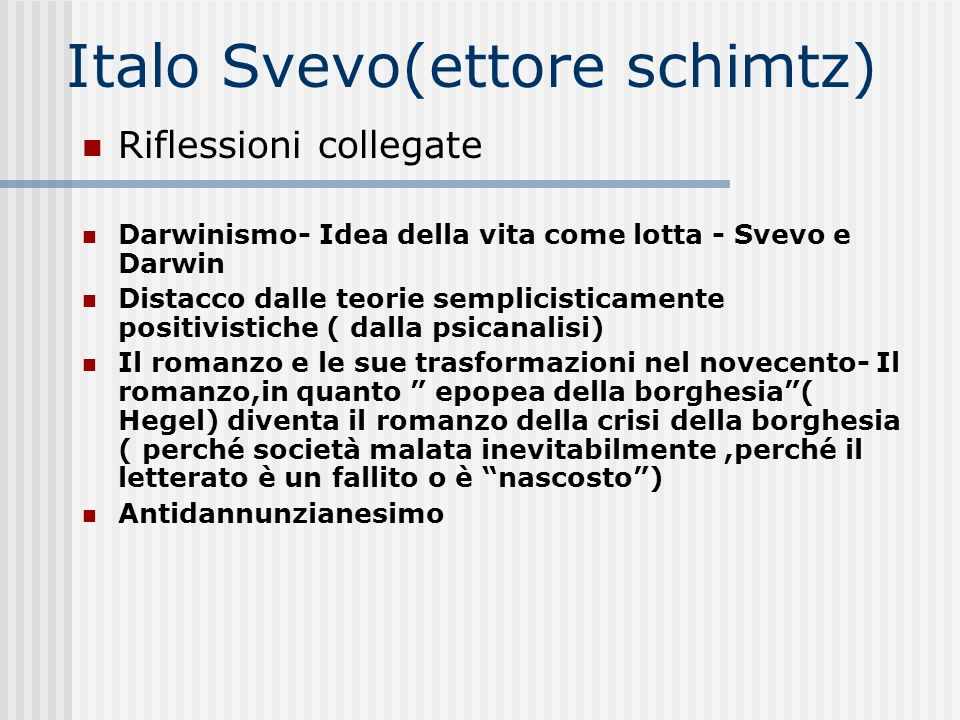 Italo Svevo(ettore schimtz)