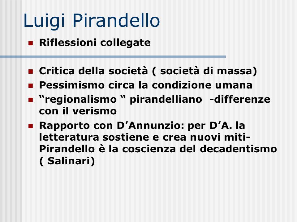 Luigi Pirandello Riflessioni collegate