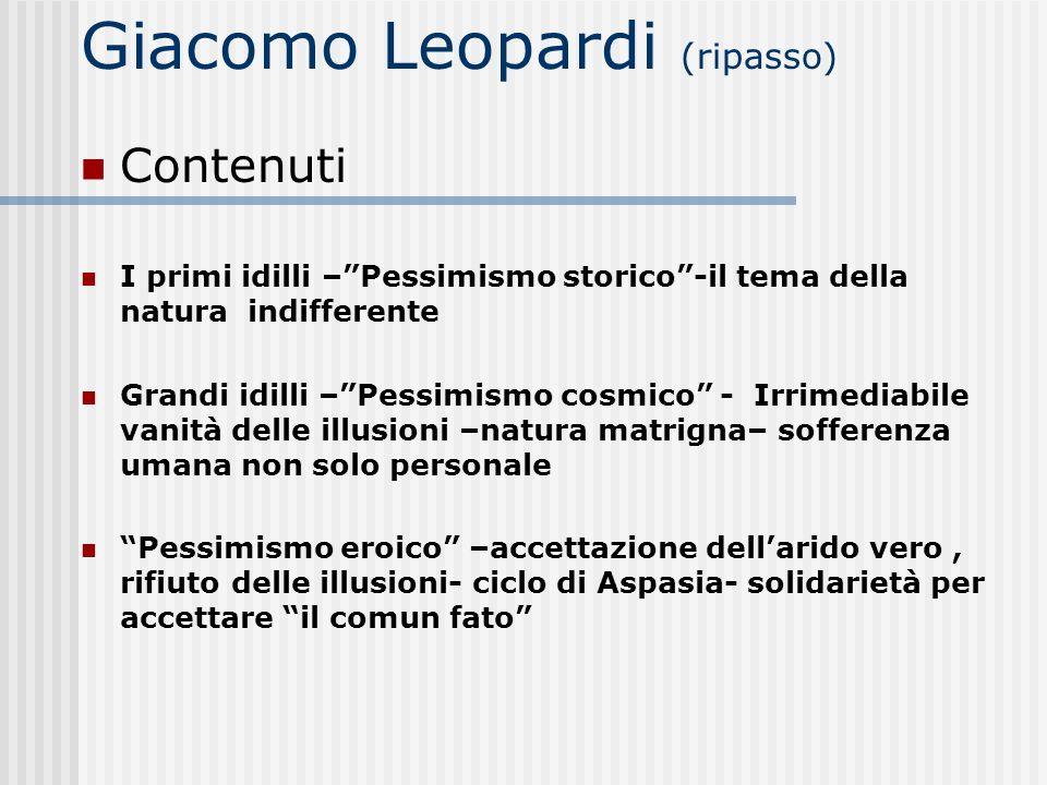 Giacomo Leopardi (ripasso)