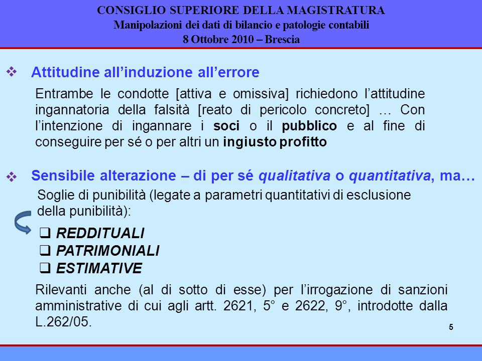 Attitudine all'induzione all'errore