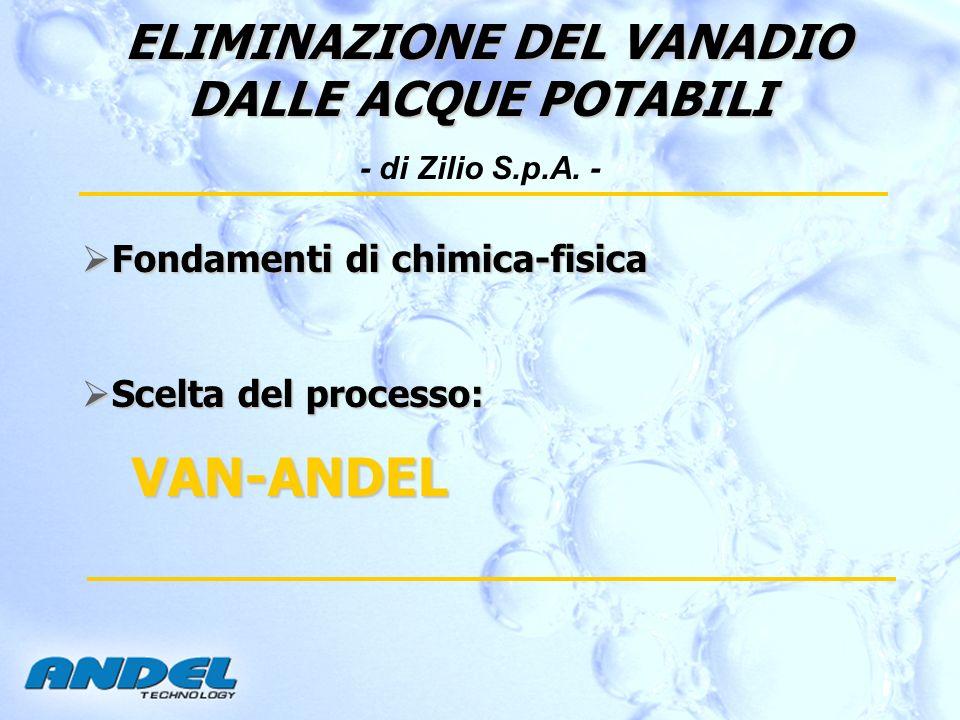 ELIMINAZIONE DEL VANADIO DALLE ACQUE POTABILI - di Zilio S.p.A. -