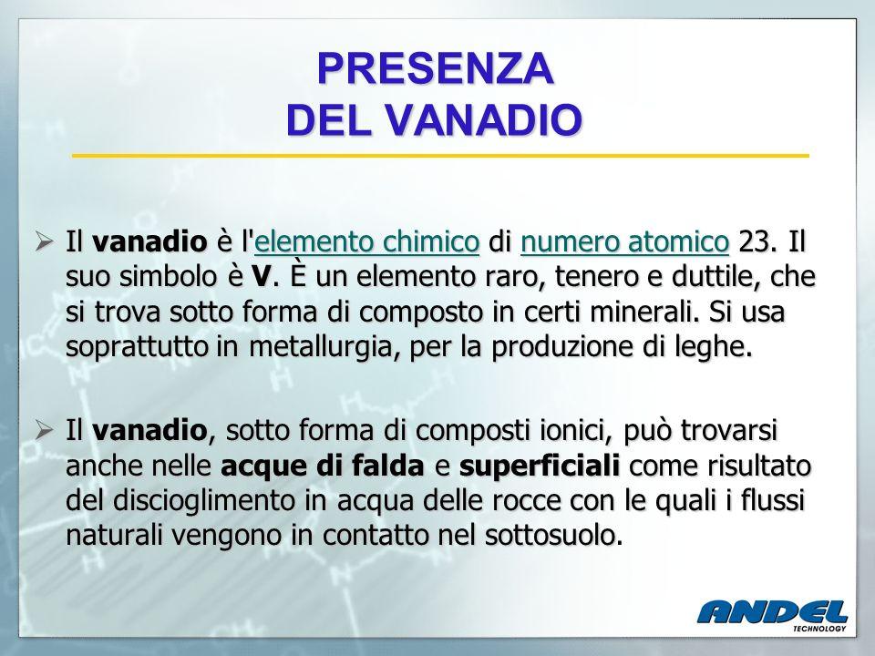 PRESENZA DEL VANADIO
