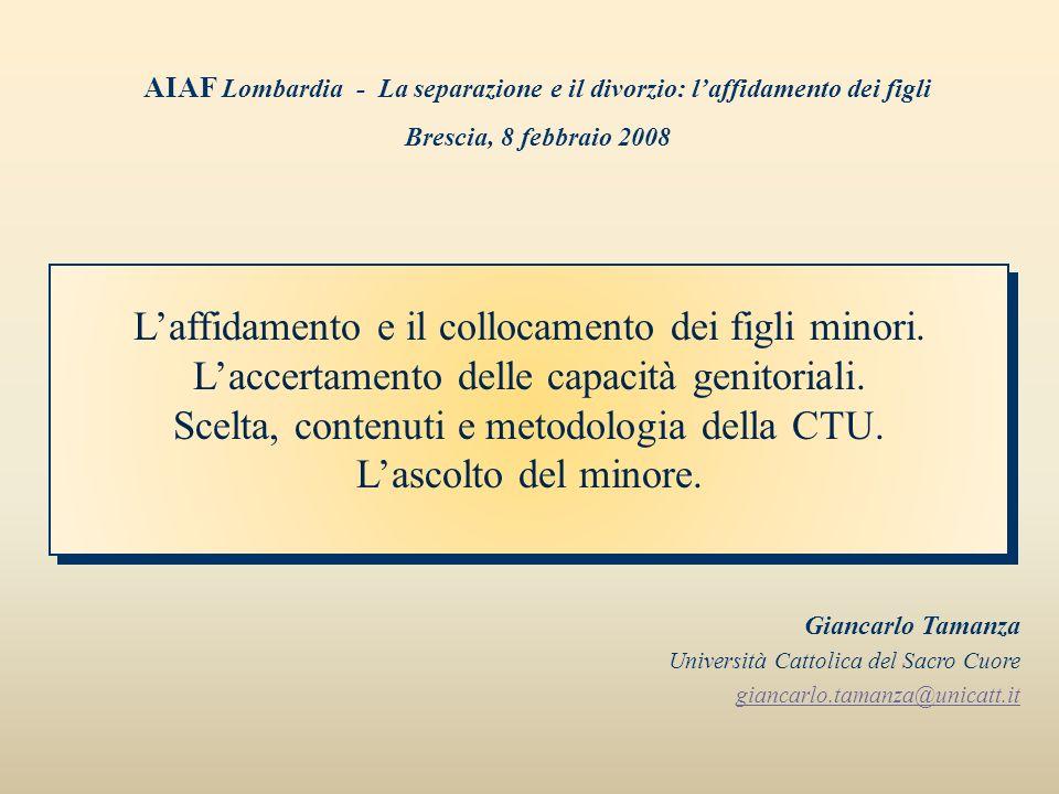 AIAF Lombardia - La separazione e il divorzio: l'affidamento dei figli