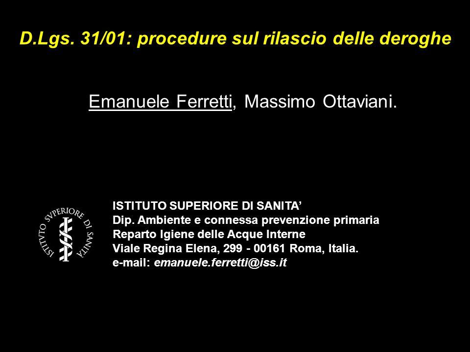 D.Lgs. 31/01: procedure sul rilascio delle deroghe