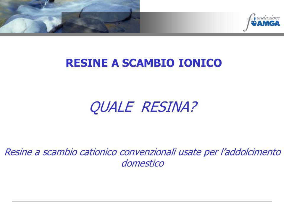 RESINE A SCAMBIO IONICO