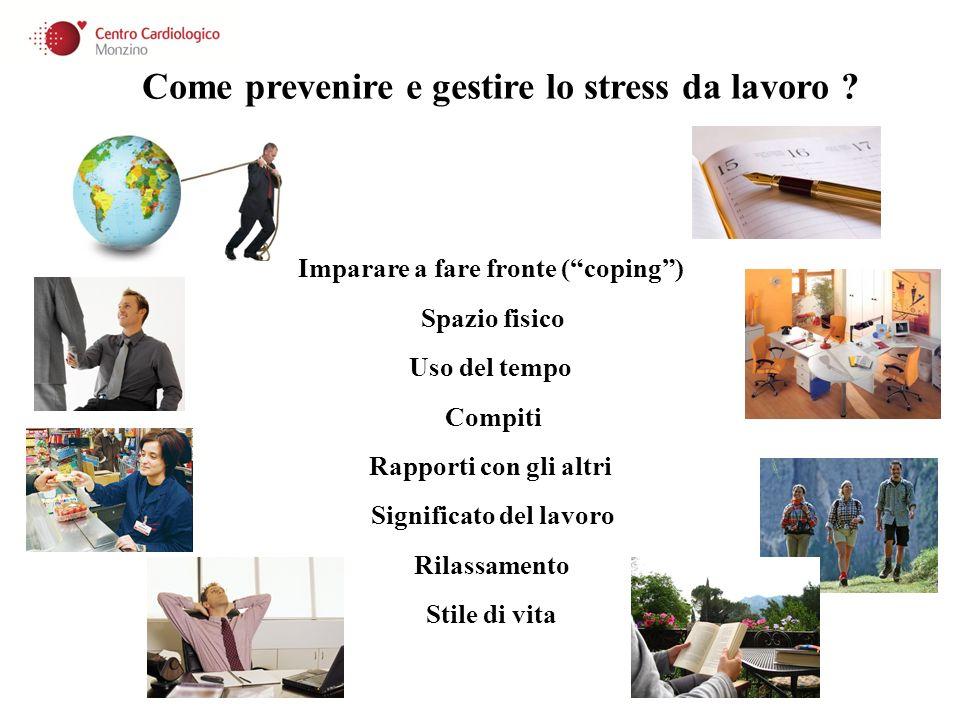 Come prevenire e gestire lo stress da lavoro