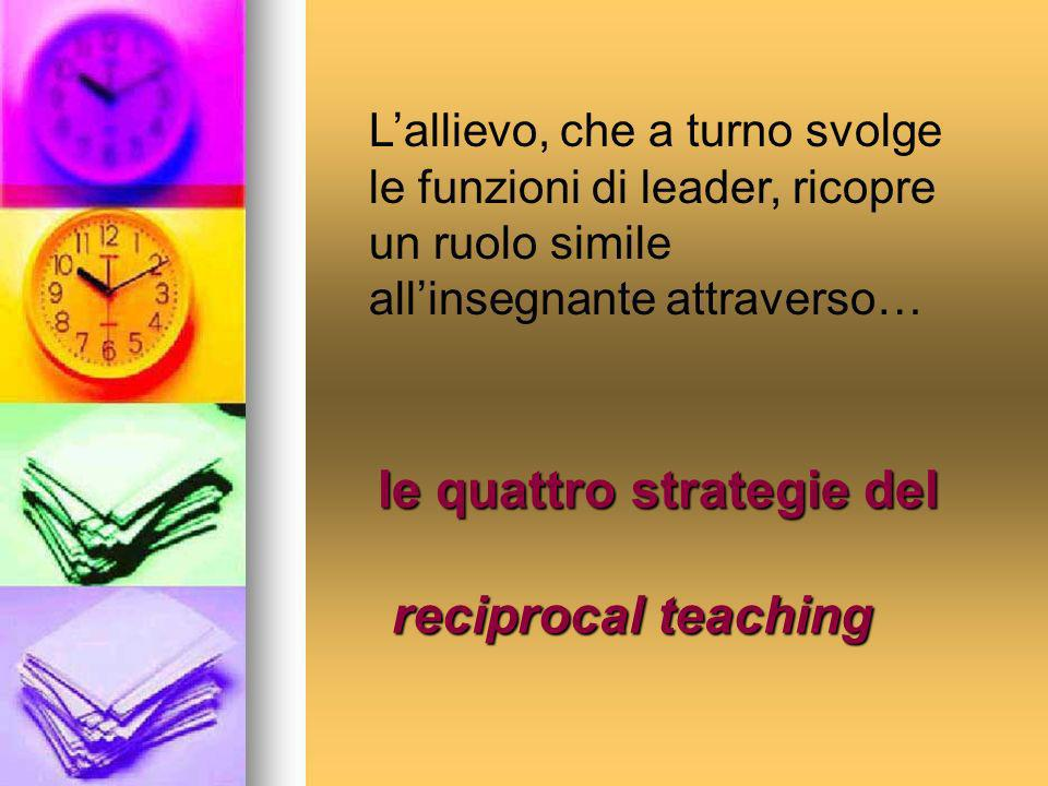 le quattro strategie del reciprocal teaching