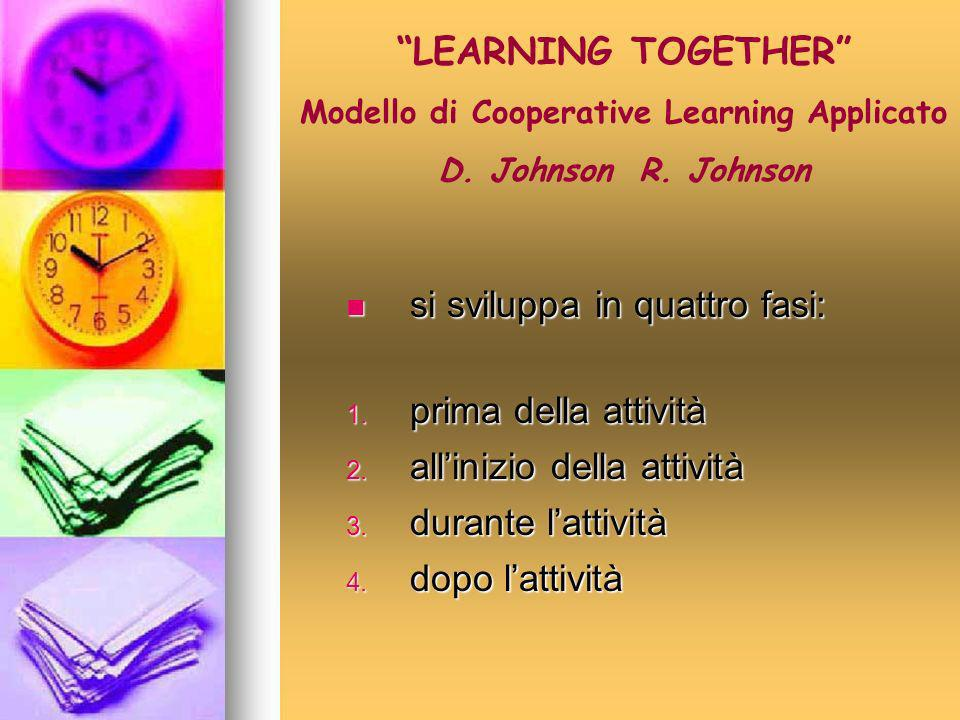 Modello di Cooperative Learning Applicato