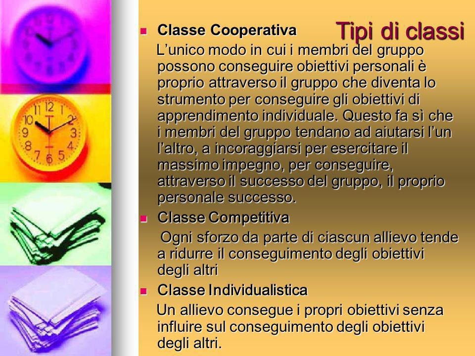 Tipi di classi Classe Cooperativa
