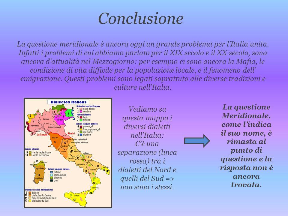 Vediamo su questa mappa i diversi dialetti nell'Italia: