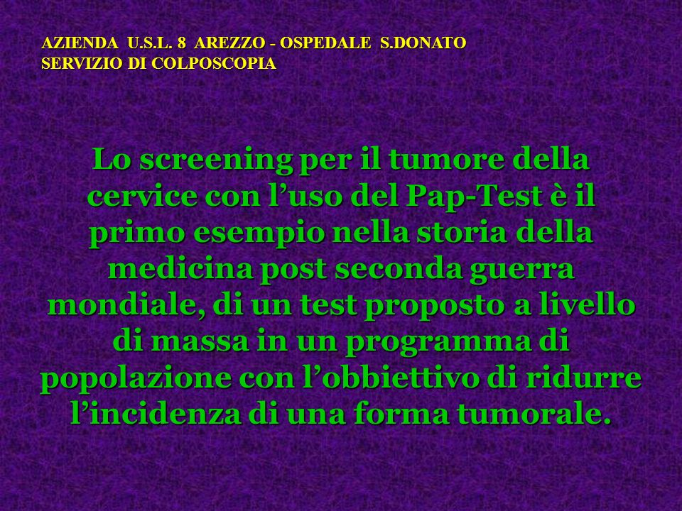 AZIENDA U.S.L. 8 AREZZO - OSPEDALE S.DONATO