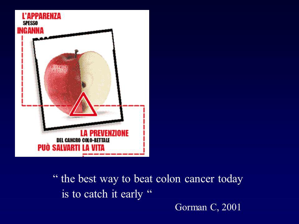 the best way to beat colon cancer today is to catch it early