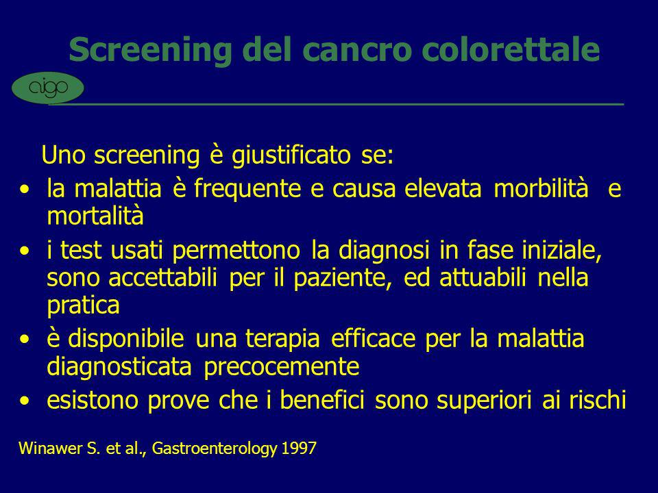 Screening del cancro colorettale