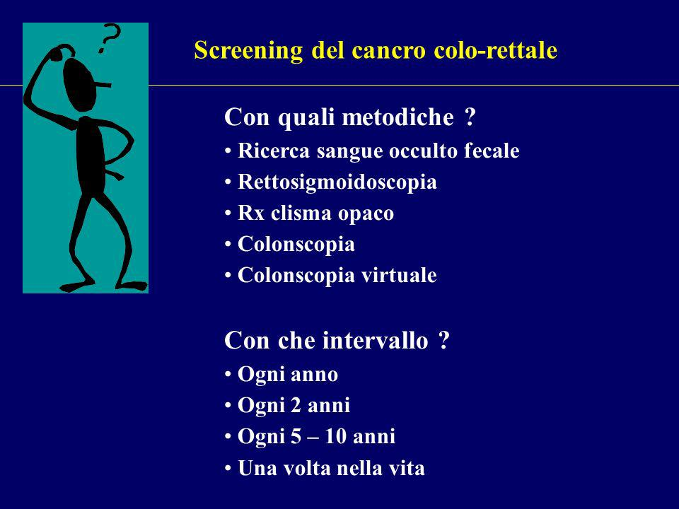 Screening del cancro colo-rettale