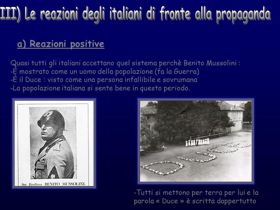 III) Le reazioni degli italiani di fronte alla propaganda