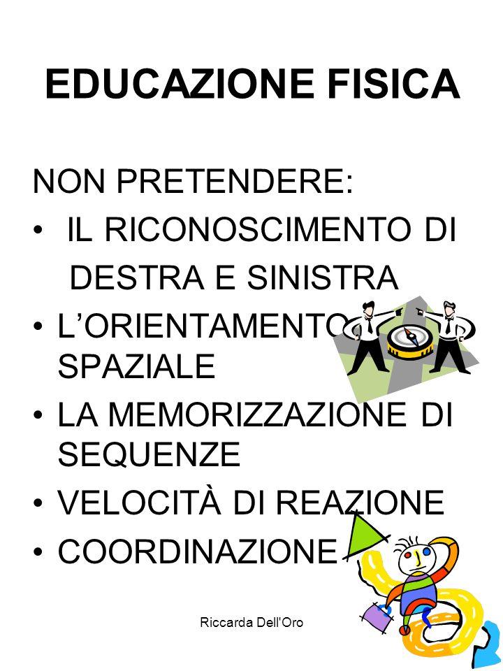 EDUCAZIONE FISICA NON PRETENDERE: IL RICONOSCIMENTO DI