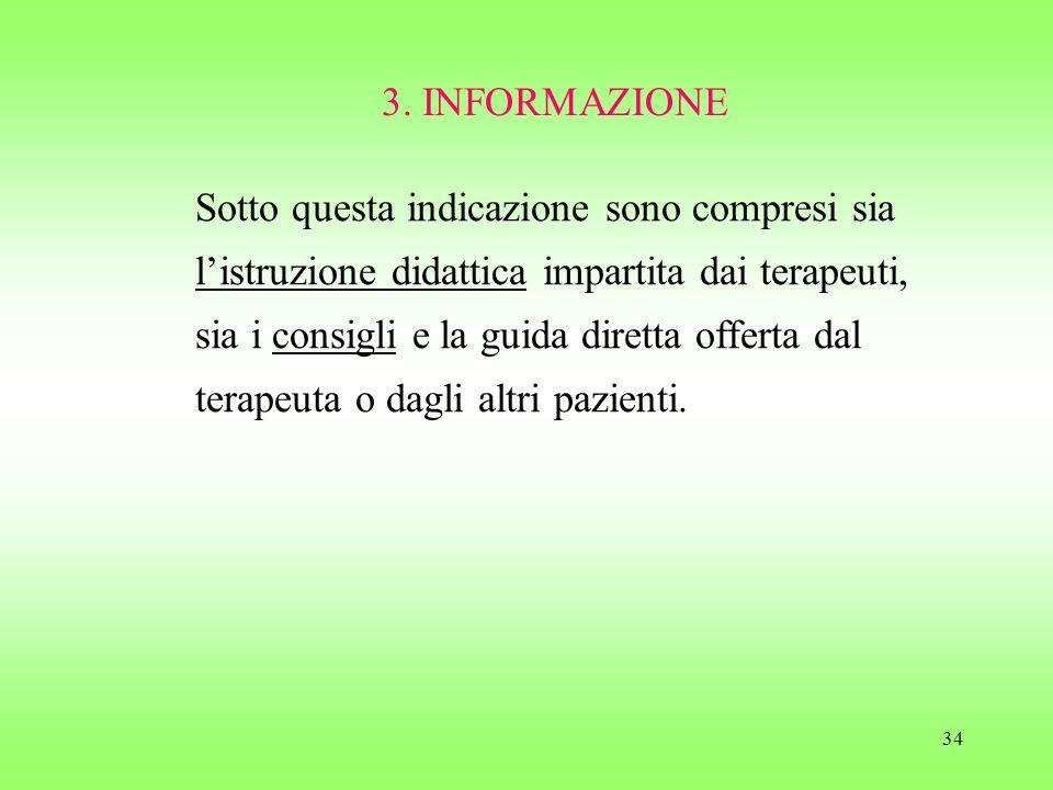3. INFORMAZIONE