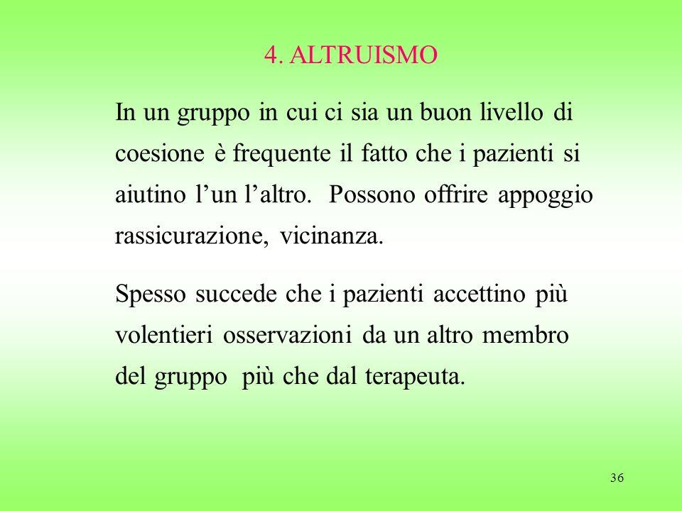 4. ALTRUISMO
