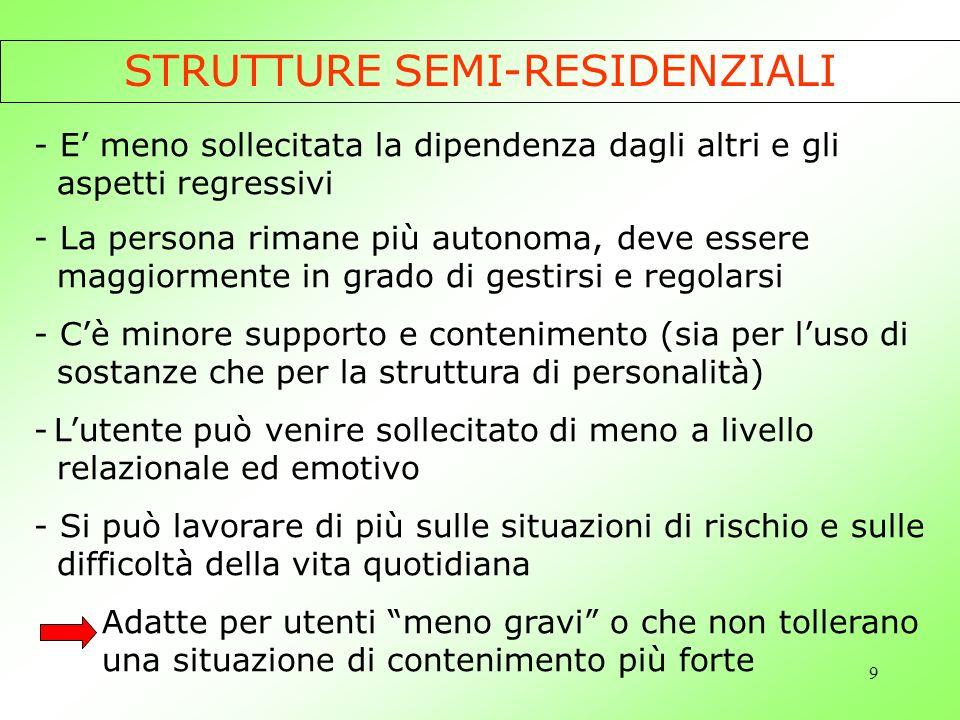 STRUTTURE SEMI-RESIDENZIALI