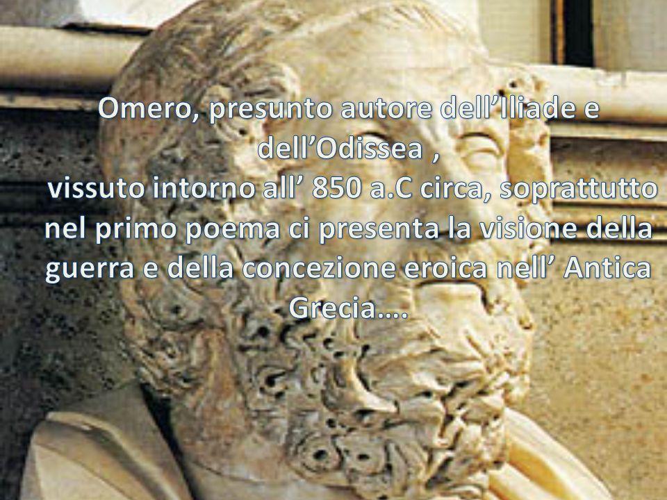 Omero, presunto autore dell'Iliade e dell'Odissea ,