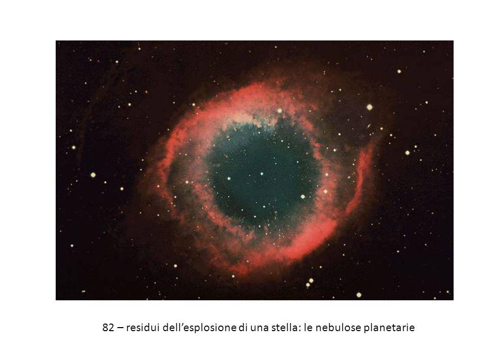 82 – residui dell'esplosione di una stella: le nebulose planetarie