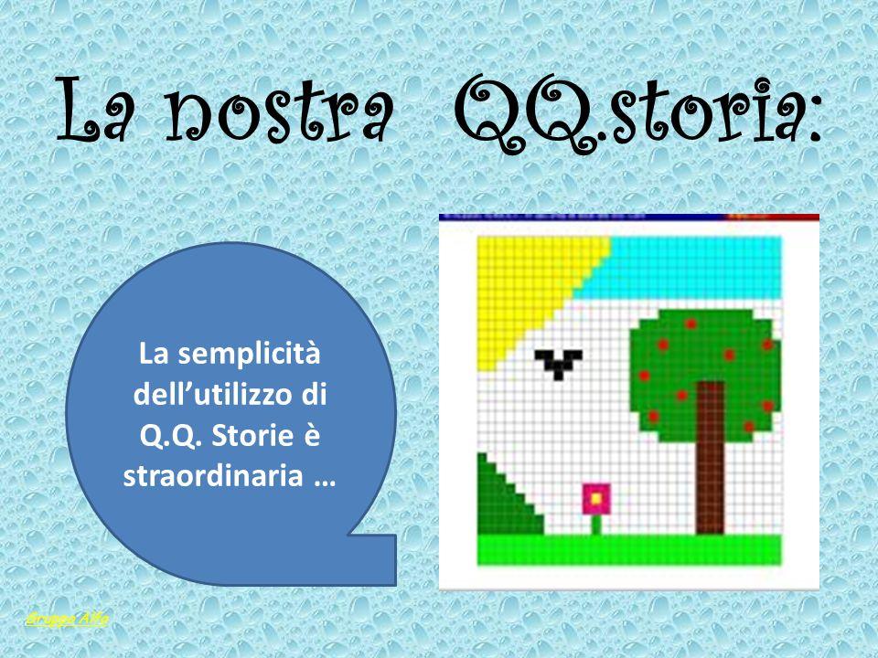 La semplicità dell'utilizzo di Q.Q. Storie è straordinaria …