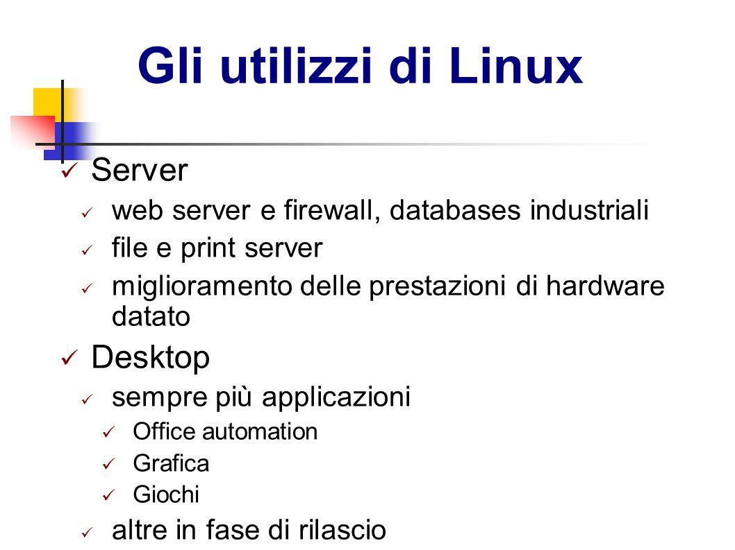 Gli utilizzi di Linux Server Desktop