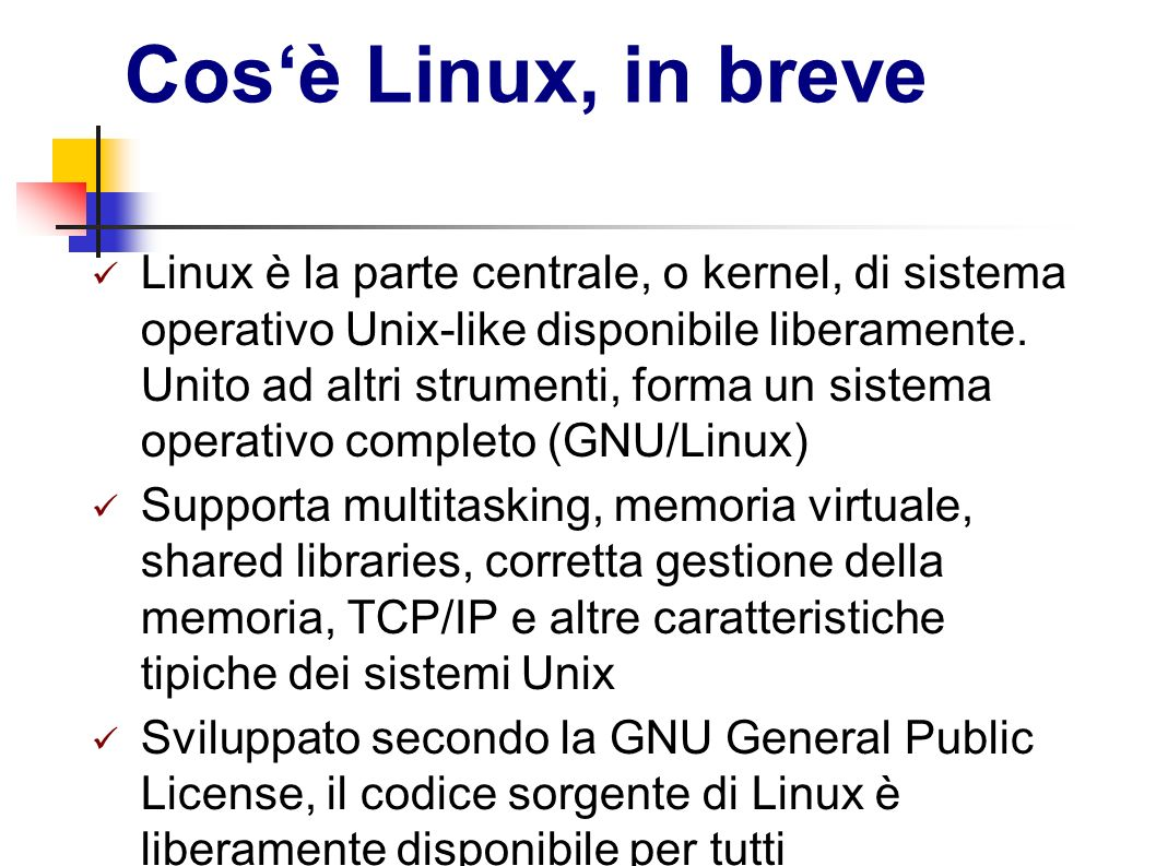 Cos'è Linux, in breve