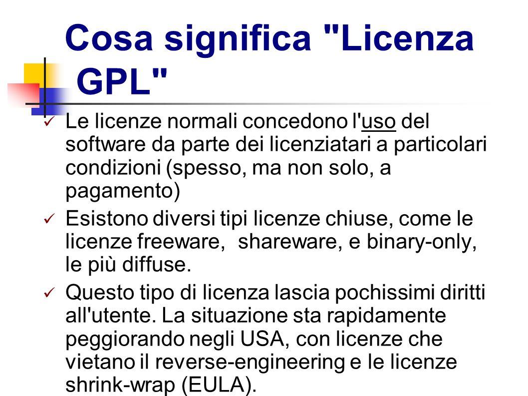 Cosa significa Licenza GPL
