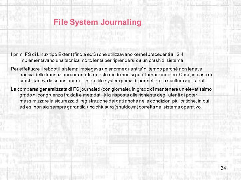 File System Journaling
