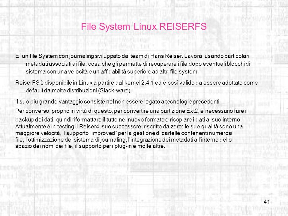 File System Linux REISERFS