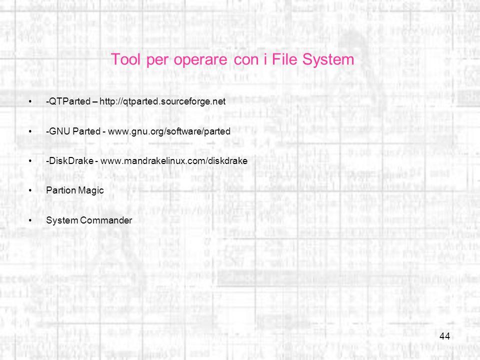 Tool per operare con i File System