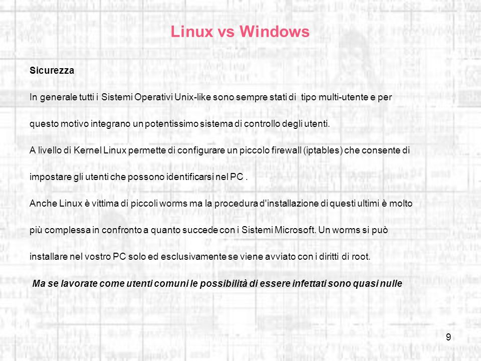 Linux vs Windows Sicurezza