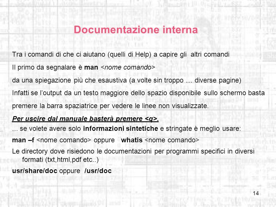 Documentazione interna