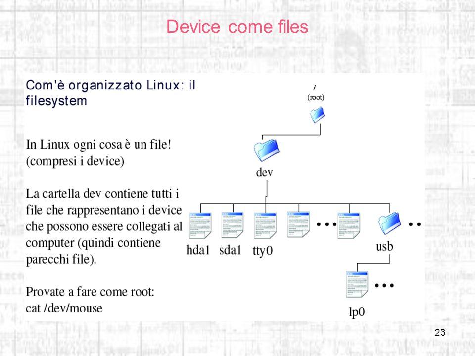 Device come files