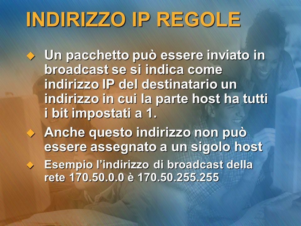 INDIRIZZO IP REGOLE