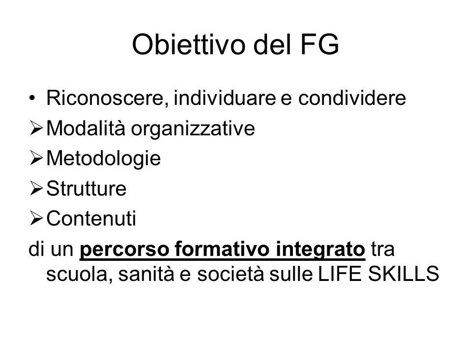 Obiettivo del FG Riconoscere, individuare e condividere