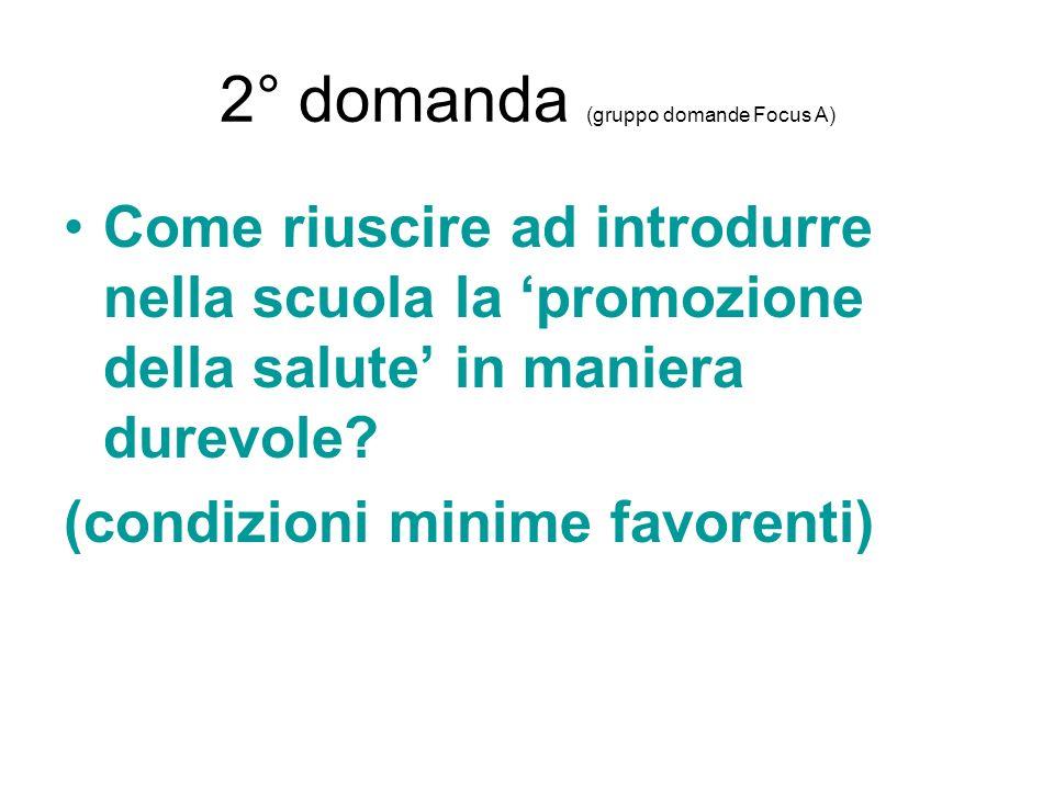 2° domanda (gruppo domande Focus A)