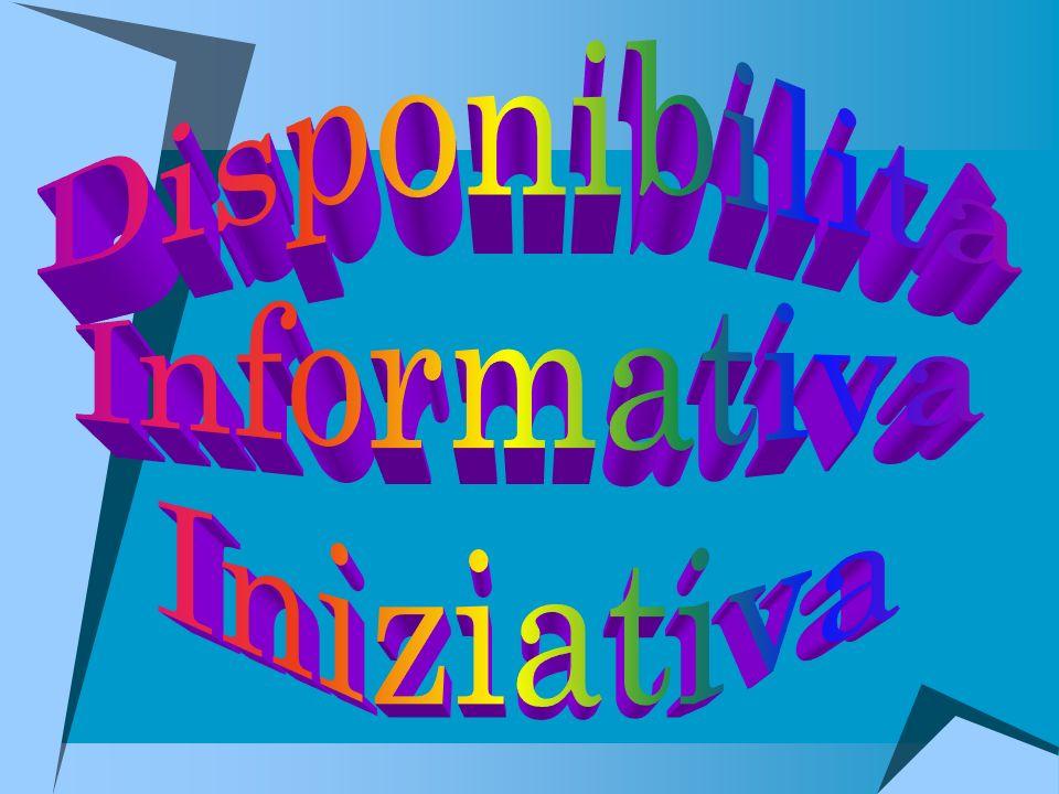 Disponibilità Informativa Iniziativa