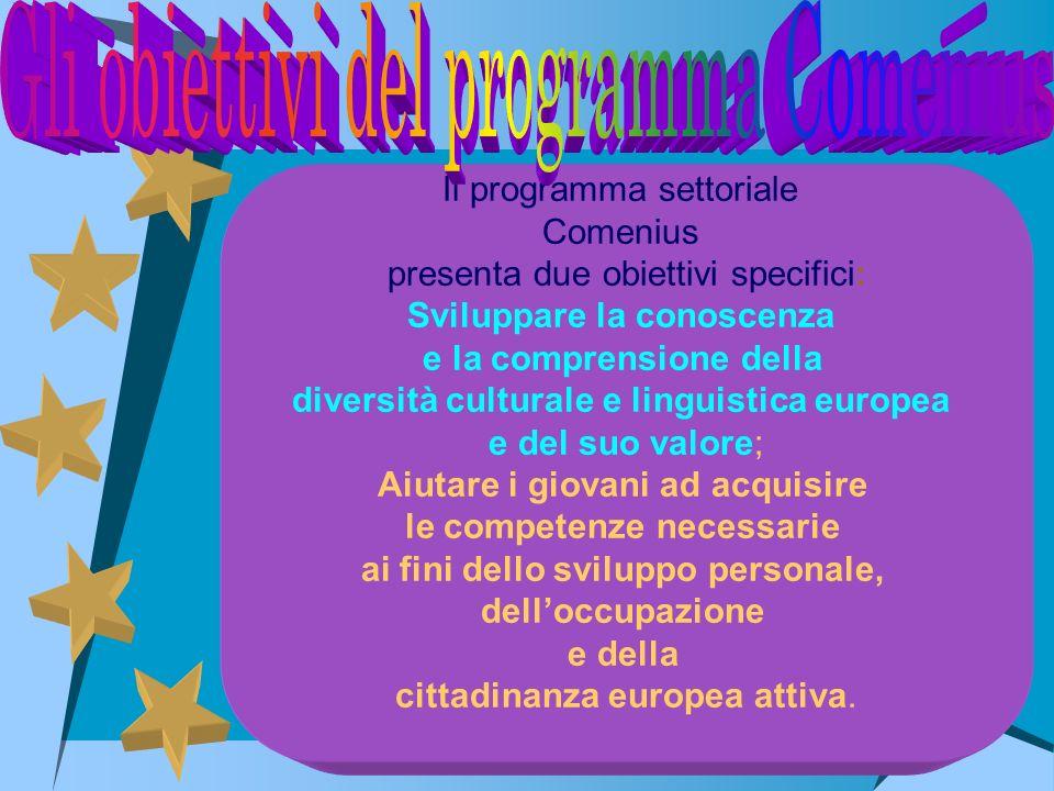 Gli obiettivi del programma Comenius