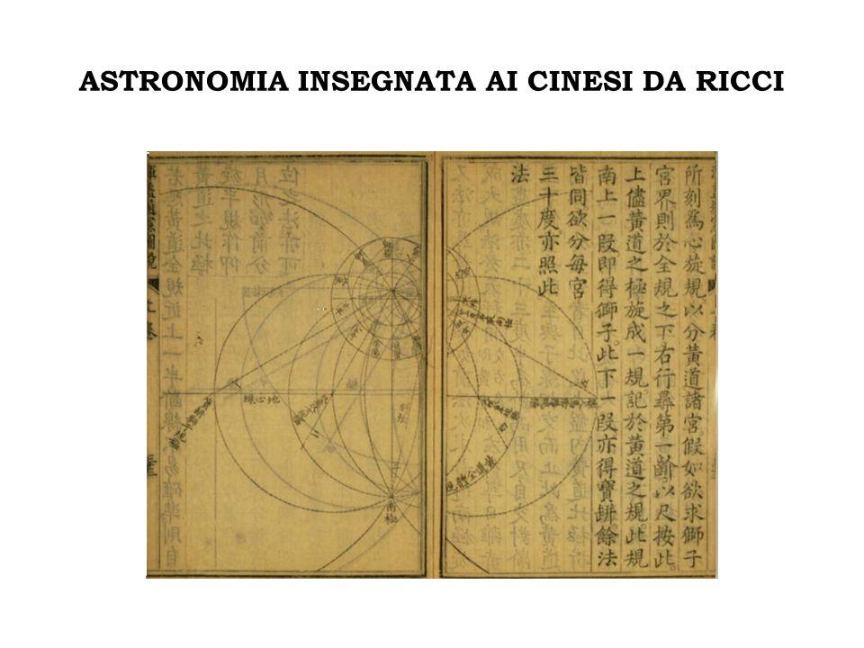 ASTRONOMIA INSEGNATA AI CINESI DA RICCI