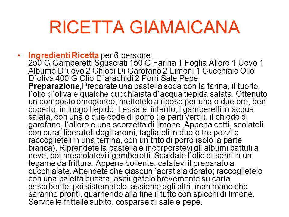 RICETTA GIAMAICANA