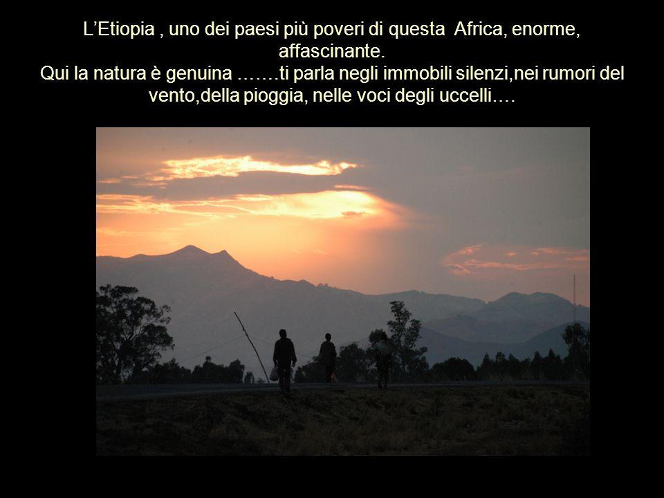 L'Etiopia , uno dei paesi più poveri di questa Africa, enorme, affascinante.