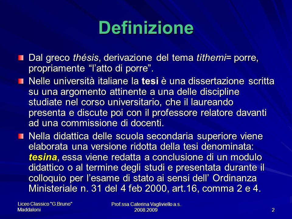 Prof.ssa Caterina Vagliviello a.s. 2008.2009
