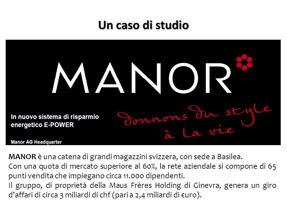 Un caso di studio MANOR è una catena di grandi magazzini svizzera, con sede a Basilea.